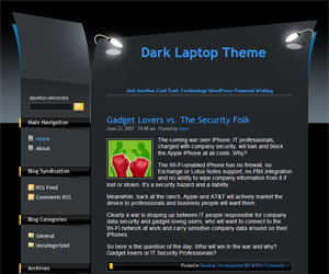 Dark Laptop for WordPress Theme preview image