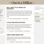 One in a Million theme for WordPress preview image