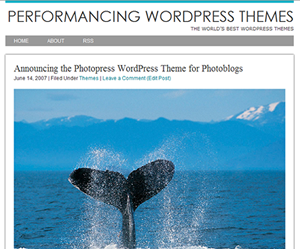 Photopress theme for WordPress preview thumbnail