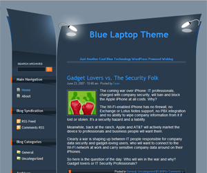Blue Laptop theme for WordPress preview image