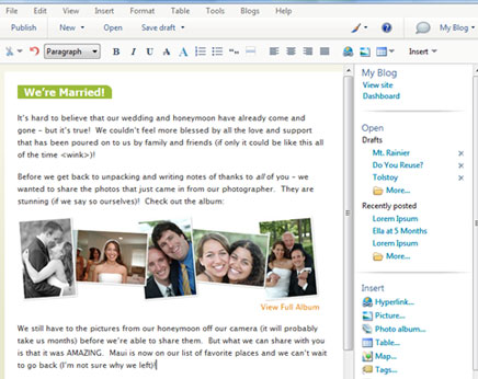 Windows Live Writer Blog Editor
