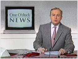 Martyn Lewis presented the first One O'Clock N...