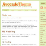 Avocado theme for WordPress preview image