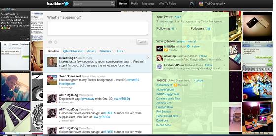 Twitter Background for InstaGram