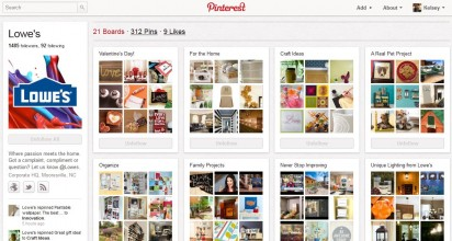 Lowe's Pinterest Marketing Board