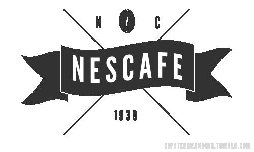 Nescafe logo by Hipster Branding