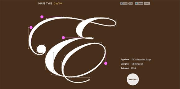 Shape Type website