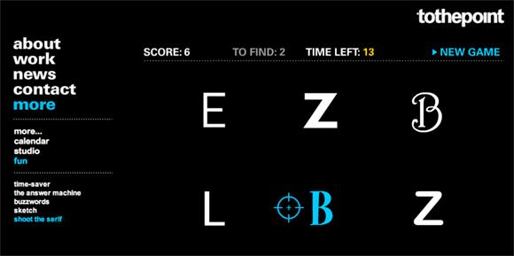 Shoot the Serif website