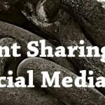 content sharing via social media