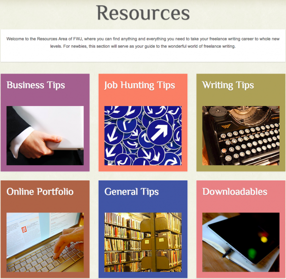Freelance Writing Jobs Resources Area